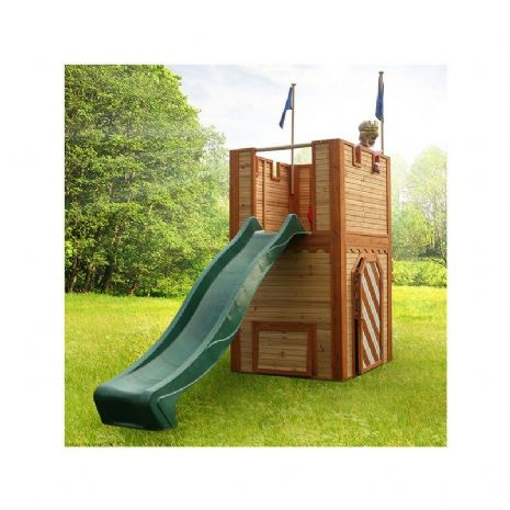 Framlingham Playhouse - Kids Wooden Medieval Castle With Slide
